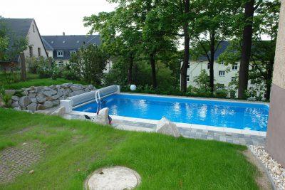 Schwimmbadbbau Saunatech - Schwimmbad Abdeckung
